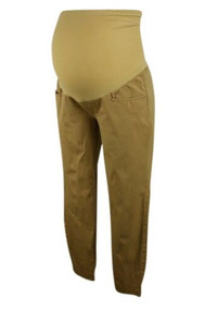 Beige Rosie Pope Slim Leg Maternity Pants (Gently Used - Size Small)
