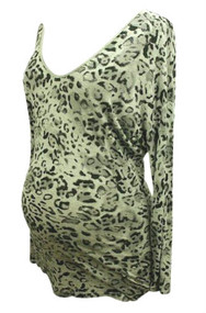 Michael Stars V-neck Back Interest Maternity Top Exclusively for A Pea in a Pod Collection (Gently Used - One Size)