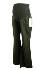*New* Black Motherhood Maternity Modern Flare Career Pants (Size Large)
