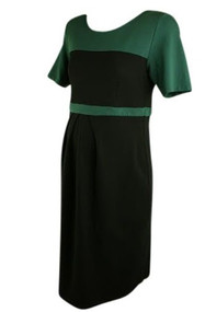 Isabella Oliver Black & Green Career Dress (Secondhand - Size 5/ 12-14 USA)