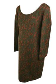 Burgundy Jessica Simpson Maternity Long Sleeve Dress (Secondhand - Size Large)