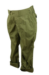 Green Motherhood Maternity Poplin Cargo Convertible Maternity Pants (Gently Used - Size Small)