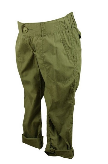 498b1978ebb ... Green Motherhood Maternity Poplin Cargo Convertible Maternity Pants (Gently  Used - Size Small). Image 1