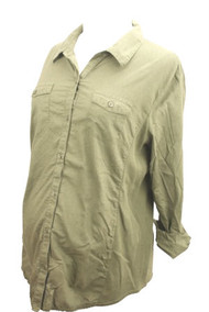 Green Motherhood Maternity 3/4 Sleeve Button Down Shirt (Gently Used - Size Large)