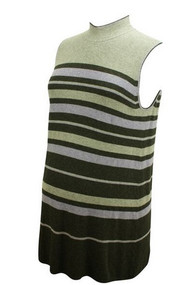Striped A Pea in the Pod Maternity Sleeveless Tunic Sweater (Gently Used - Size Medium)