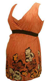 Orange Flower Pattern Mimi Maternity Sleeveless Tunic (Like New - Size Small)