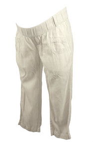 White Old Navy Maternity Capri Pants (Pre-Owned - Size X-Small)