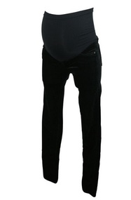 Black AG Adriano Goldschmied Maternity Skinny Velour Fall Winter Pants (Like New - Size 27R)