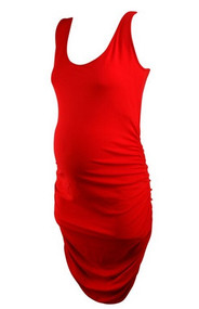 Red Isabella Oliver Maternity Sleeveless Versatile Dress (Like New - Size 4)