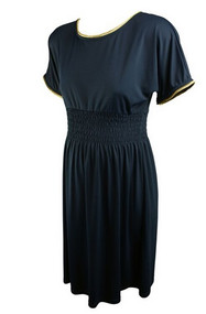 Navy Blue Rosie Pope Maternity Short Sleeve Special Occasion Dress (Like New - Size Large)