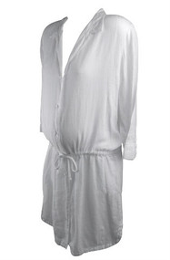 White James Pierce Maternity Long Sleeve Casual Dress (Like New - Size 4)