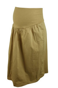 *New* Beige Maternal America Maternity Khaki Skirt (Size X-Large)