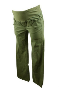 Green Khaki Mimi Maternity Casual Pants (Like New - Size X-Small)
