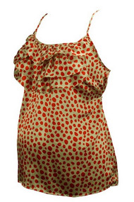 Polk-a-dot Motherhood Maternity Camisole (Gently Used - Size Small)