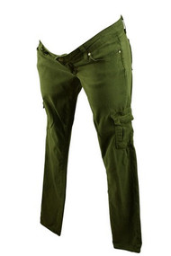 Forest Green Paige Premium Denim Maternity Straight Cut Pants (Gently Used - Size 25)
