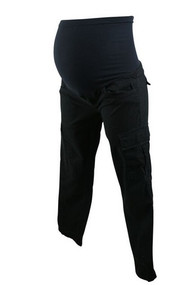 Black Marvi Maternity Cargo Khaki Pants for A Pea in the Pod Collection (Pre-Loved - Size X-Small)