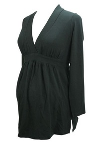 Black Liz Lange Maternity Baby doll Long Sleeve Tee (Gently Used - Size 4)
