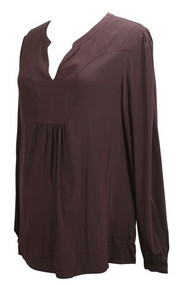 Maroon Cadeau Maternity Long Sleeve Blouse (Gentley Used- Size Large)