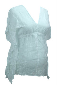 *New* White A Pea in the Pod- Johnny Was Maternity Blouse (Small)