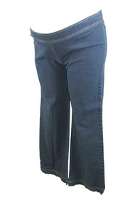 Navy Cadeau Maternity Flare Cut Jeans (Gently Used - Size X-Large)
