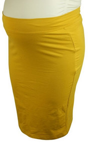 *New* Mustard Yellow Miss Meme Maternity Pencil Skirt (Size 2X)