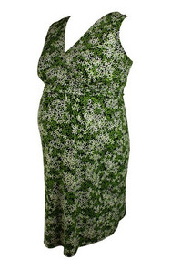 Flower Print Mimi Maternity Sleeveless Dress (Like New - Size Large)