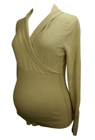Beige Liz Lange Maternity Long Sleeve Sweater (Gently Used - Size Two)