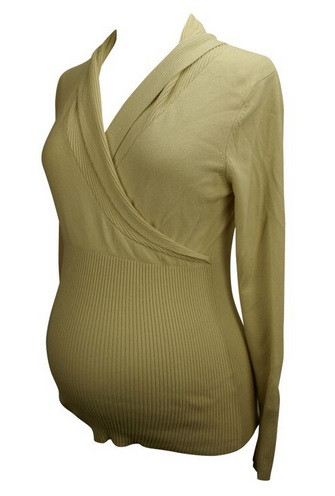 b623296725431 Beige Liz Lange Maternity Long Sleeve Sweater (Gently Used - Size ...