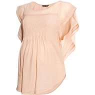 Peach H&M Maternity Mama Butterfly Sleeve Blouse (Like New - Size Medium)