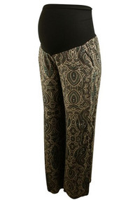 Print Ella Moss for A Pea in the Pod Collection Maternity Ankle Pants (Like New - Size Small)