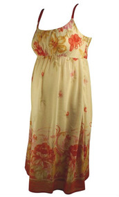 Peach Mimi Maternity Designer Summer Dress (Like New - Size Small)