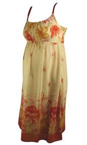 Peach Mimi Maternity Designer Summer Dress (Like New - Size Small)