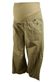 Tan GAP Maternity Cropped Maternity Pants (Pre-Loved - Size 6)