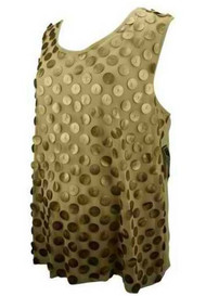 *New* Gold Sequin Design Ricki Cherr Maternity Blouse (Size X-Large)