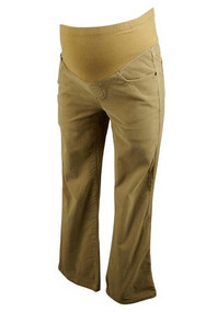 Beige Me Maternity Corduroy Maternity Pants (Gently Used - Size Small)