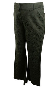Black Mimi Maternity Paisley Print Maternity Pants (Gently Used - Size Small)