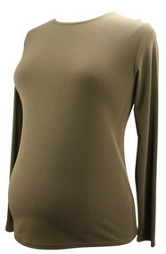 *New* Brown Ran Designs Maternity Long Sleeve Shirt (Size X-Small)