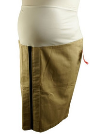 *New* Beige Cravings Maternity Career Skirt with Exposed Zipper (Size X-Large)