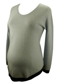 Cloud Pacific White & Warren for A Pea in the Pod Collection Cashmere Maternity Sweater (Like New - Size Small)