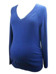 Cream Blue Old Navy Maternity Long Sleeve Sweater Top (Gently Used - Size Medium)