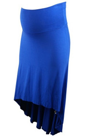Electric Blue Pink Blush Maternity High-Low Maternity Skirt (Like New - Size Small)