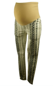 7 For All Mankind Maternity Snake Skin Skinny Ankle Jeans for A Pea in the Pod Collection (Like New - Size 27)