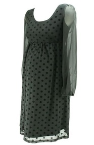 *New* Black Jojo Maman Bebe Long Sleeve Maternity Special Occasion Dress (Like New - Size 8)