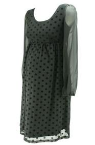 *New* Black Jojo Maman Bebe Long Sleeve Maternity Special Occasion Dress (Like New - Size 8)