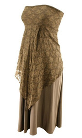 *New* Brown Lace Pouch Versatile Maternity Dress and Skirt (One Size)