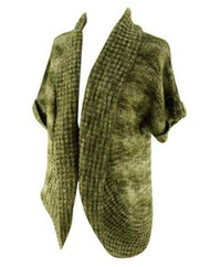 Olive Green Motherhood Maternity Cardigan with Adjustable Sleeves (Gently Used - Size Large)