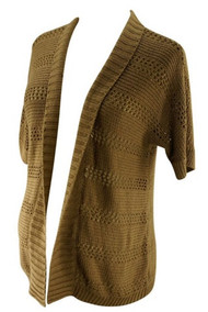 Tan A Pea in the Pod Maternity Knit Shrug Sweater (Gently Used - Size Large)