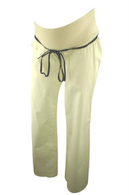 *New* White Jules and Jim Maternity Flare Maternity Pants and Belt (Size Medium)
