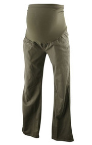 Moss Greenish Brown Liz Lange Maternity for Maternity Full Panel Pants (Gently Used - Size 2)