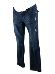 Ash Blue Liz Lange Maternity for Target Distressed Straight Leg Jeans (Gently Used - Size 2)